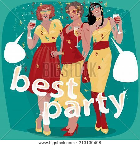 Three Beautiful Woman Invited To Party