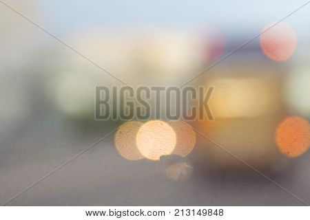 Blurred Image Of Cars