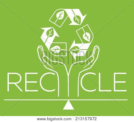 Banner About Recycle  Silhouette