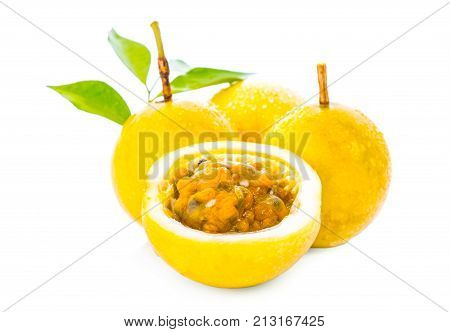 Passion fruit isolated on white Passion fruit isolated