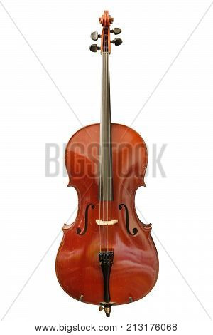 a cello isolated on a white background