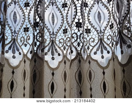 Part Of Beautifully Draped Curtain