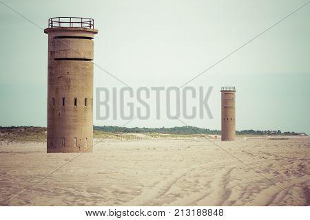 Two Delaware beach World War II Watch Towers