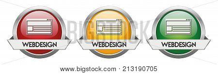 Modern Button Vector Webdesign