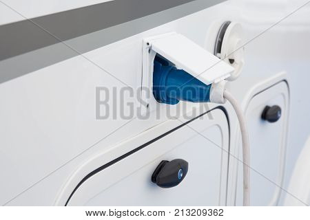 plug of electrical connection for camping car