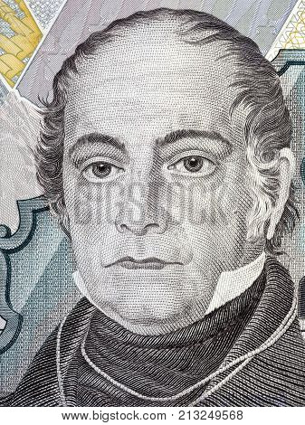 Andres Bello portrait from Venezuelan money - Bolivar