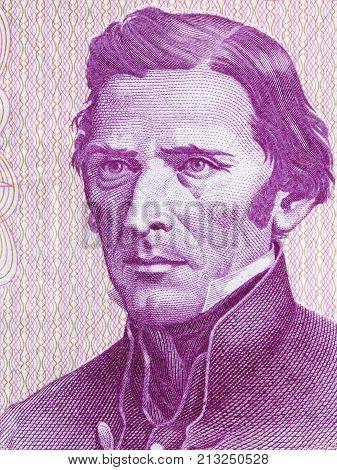 Jose Gervasio Artigas portrait from Uruguayan Pesos