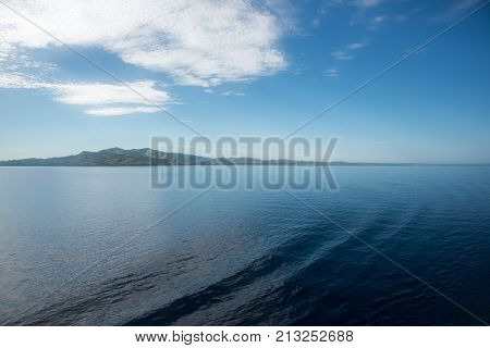 Peaceful island landscape with the Pacific Ocean waters in Noumea, New Caledonia