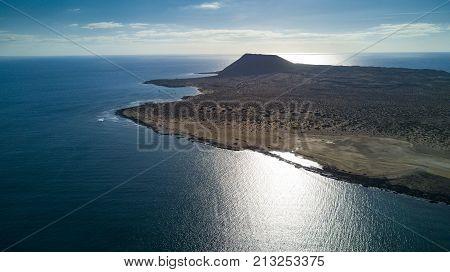 aerial view of graciosa island lanzarote canary islands