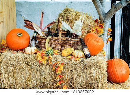 Fall Decorations At The Old Town In San Diego, California