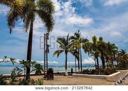 Searching For Reason Statue At Puerto Vallarta