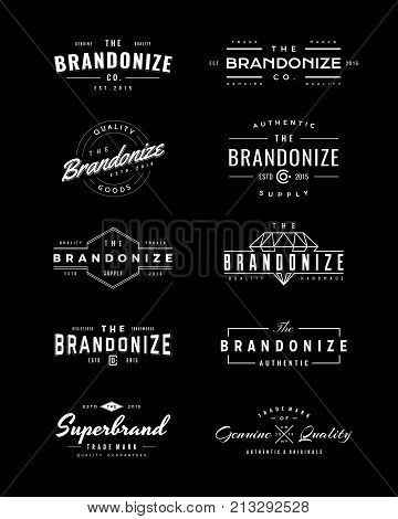 Vintage Logo and Insignia 1. perfect for identity, logo, insignia or badge design with retro vintage looks. it is also good for print design such clothing line, merchandise etc.