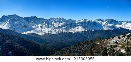 a mountain landscape in the Pyrenees France