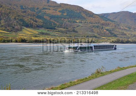 cruise boat on the River Danube Austria