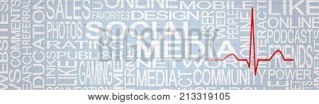 Social Media Stress Concept. Social Networks Addiction Concept. Social Media Feedback.