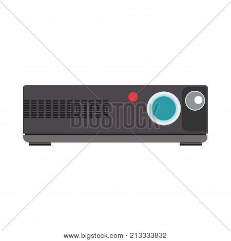Projector video cinema movie icon film. Vector illustration camera isolated. Concept design screen