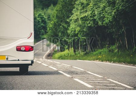 Camper Van Travel In The Uk, Stuck Behind A Slow Moving Camper Van, Drivers Can Face Long Delays And