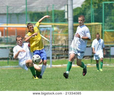 KAPOSVAR, HUNGARY - JUNE 11: Krisztian Kelemen (22) in action at the Hungarian National Championship under 17 game between Kaposvari Rakoczi FC and Bajai LSE on June 11, 2011 in Kaposvar, Hungary.