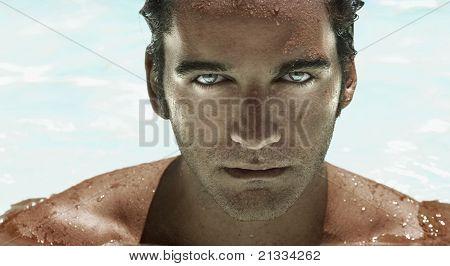 Futuristic Man Face