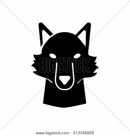 Icon of dog head. Wolf, pet, mascot. Animal concept. Can be used for topics like horoscope, rabies, zoo