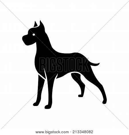 Icon of Great Dane dog. Pet, breed, companion. Animal concept. Can be used for topics like horoscope, security, cynology