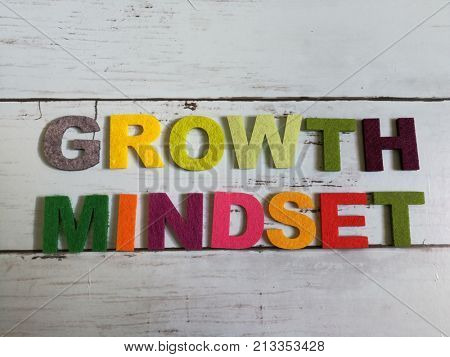 Growth mindset in colorful wording