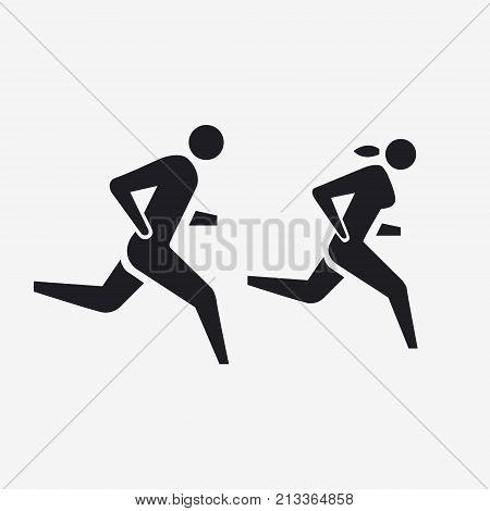Runners, Men And Women