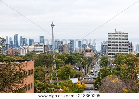 View over the city of Toronto. Province of Ontario Canada