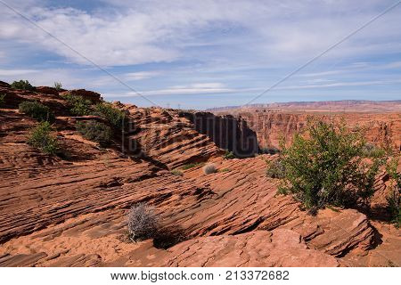 Glen Canyon overlook in Page Arizona USA