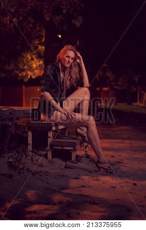 Beautiful One Mature Caucasian Woman Posing, Late 40S, Ex Fashion Model, Posing Portrait, Sitting St