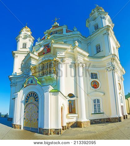 Panorama Of Dormition Cathedral Of Pochaev Lavra