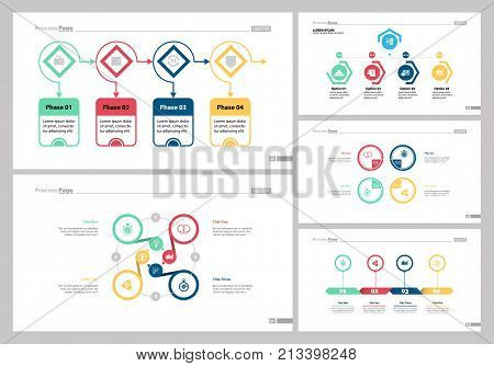 Infographic design set can be used for workflow layout, diagram, report, presentation, web design. Business and strategy concept with process, cycle, option, flow and step charts.