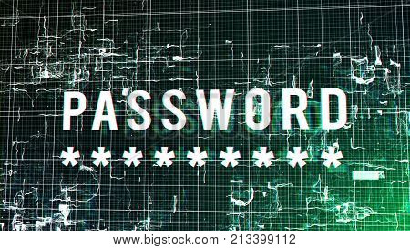 Digital Futuristic Password Illustration