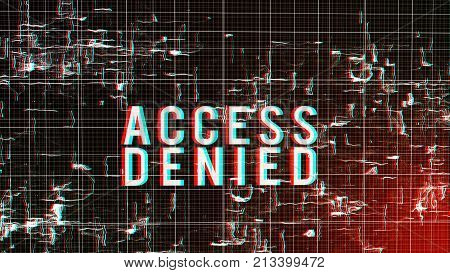 Cyberspace Access Denied Illustration