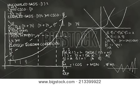 Physics Theory On A Blackboard