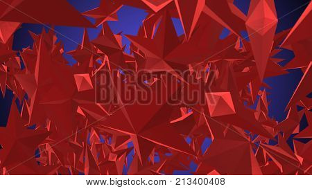 Rotating Red Stars Illustration