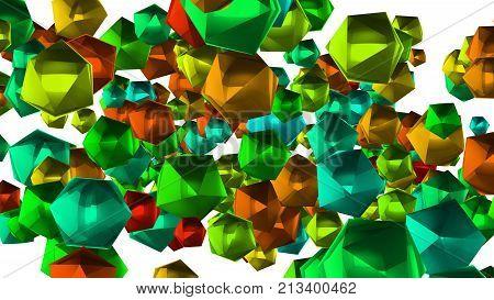 Spinning Multicolored Stars Illustration