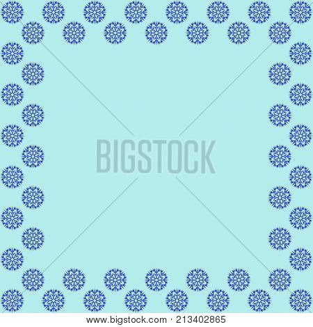 decoration new year concept cold framework isolated on blue background modern