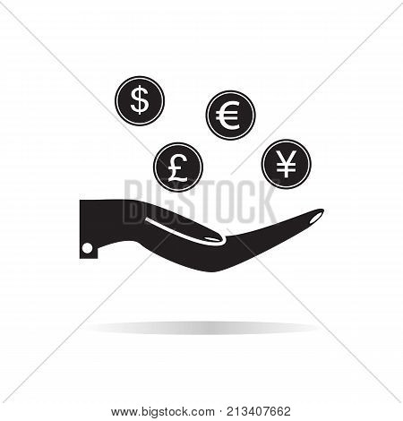 earn money icon on white background. earn money sign. flat style. four money symbol.