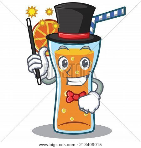 Magician cocktail character cartoon style vector illustration