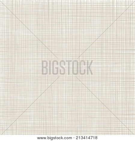 Abstract brown lines grid texture. background threads. natural linen. Vector illustration