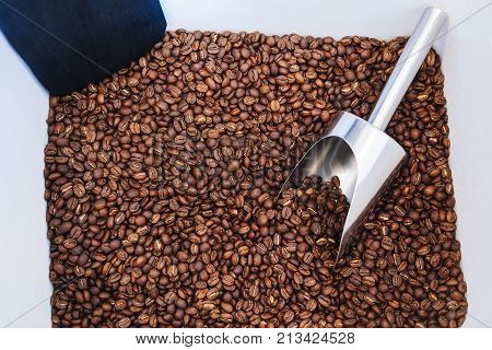Roasted coffee beans Shop Retail sell by weight