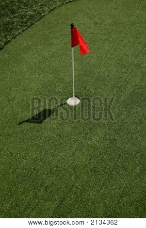 Red Flag On Putting Green