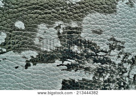 abstract background of rough spotty texture of natural leather closeup monochrome tone