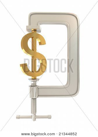 G clamp and Dollar sign
