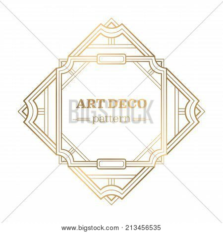 gatsby art deco background. Abstract ornamental patte