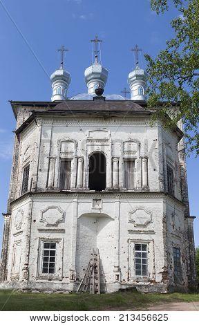 Church of the Holy Trinity in the village Shelota, Verhovazhskogo district, Vologda region, Russia