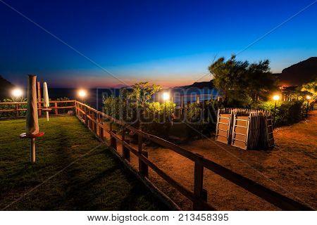 Sunset Near Sea Beach