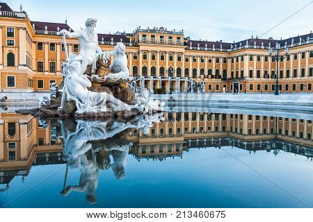 Vienna Austria July 21 2017: Schonbrunn Palace imperial summer residence in Vienna Austria