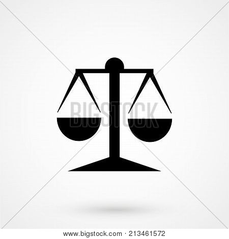 Black Justice Scale Icon On White Background